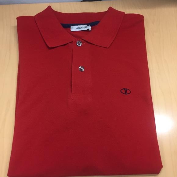 cb18e557 Valentino Polo Shirt XL/ Red. M_5b870fd35bbb80db53dff89c
